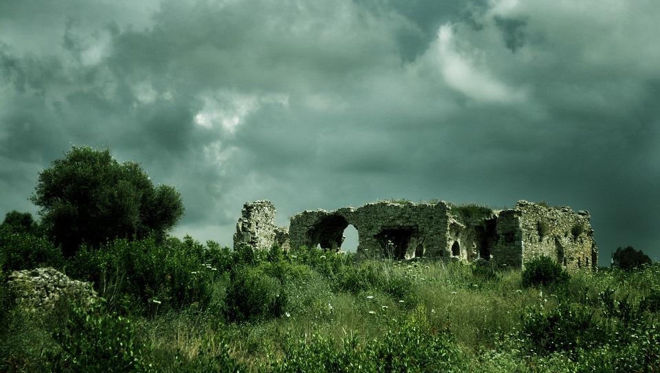 Ruin, Side, Turkish Riviera, Antiquity, Turkey, Holiday