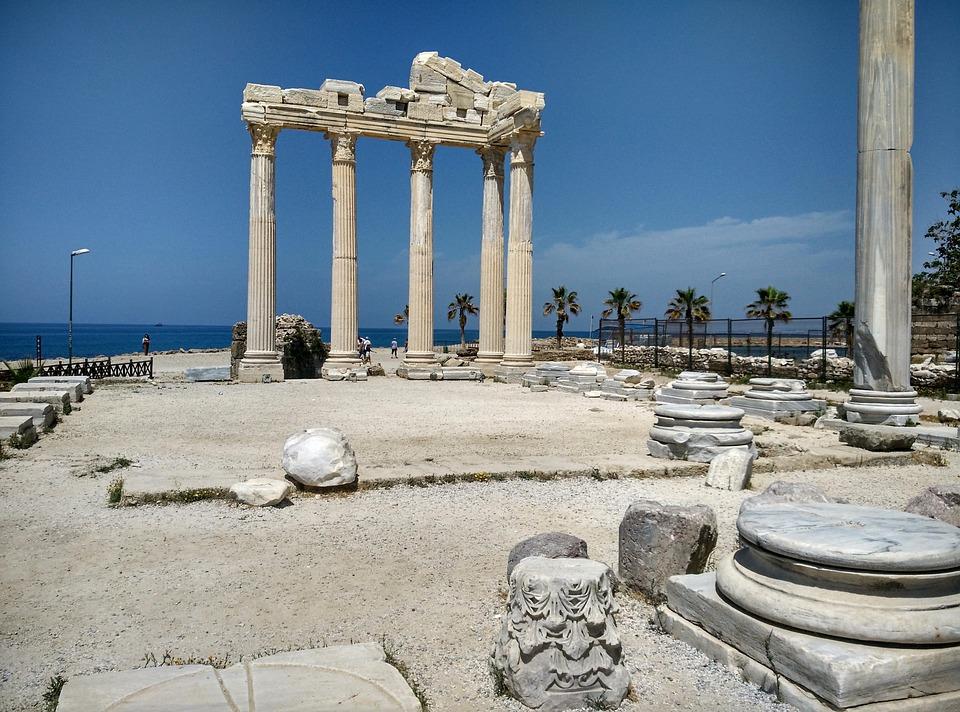 Side, Turkey, Turkish Riviera, Antiquity, Building