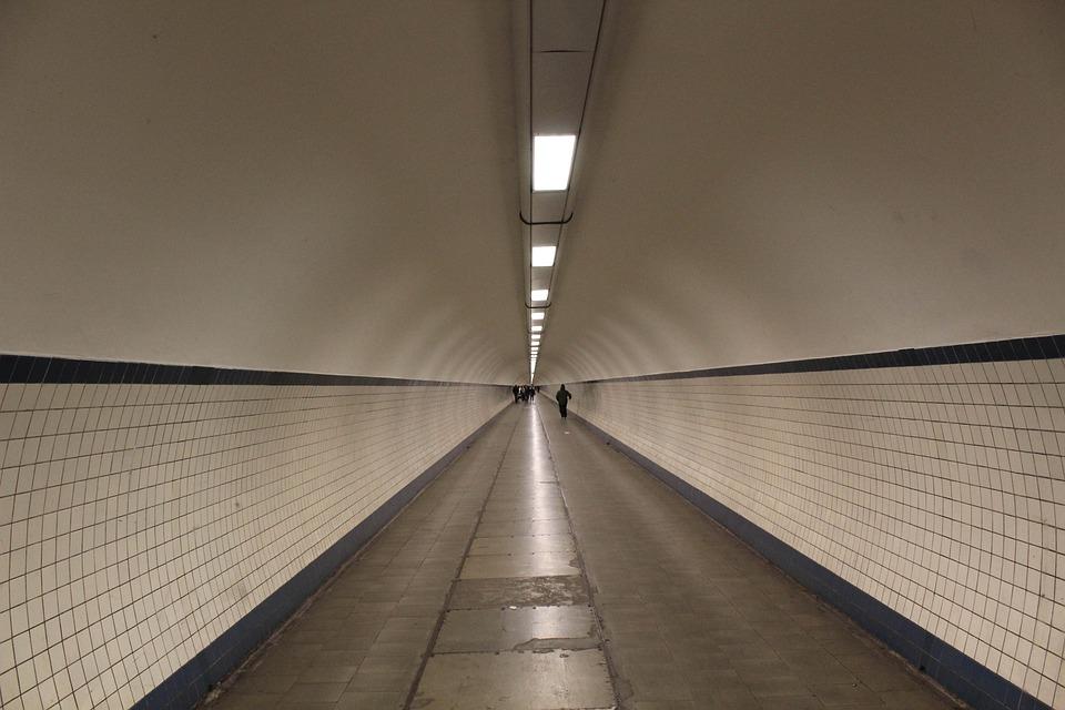 Tunnel, Belgium, Antwerp, Channel, Architecture