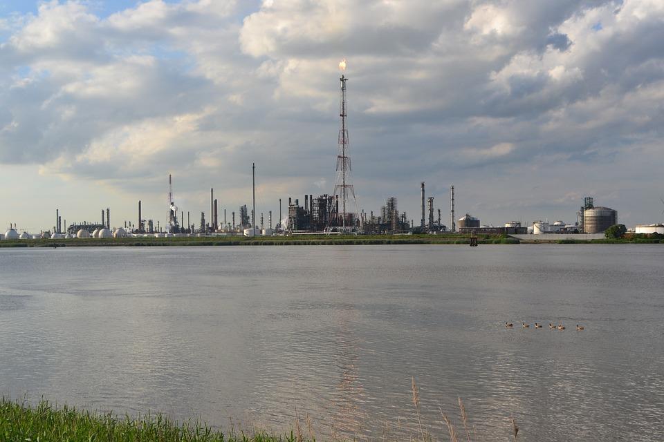 Industrial, Landscape, Factory, Antwerp, Schelde, View