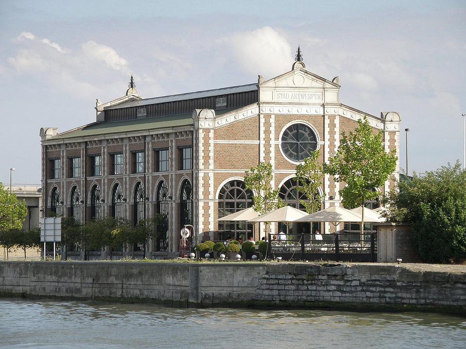 Antwerpen, Pomphuis, House, Waterfront, Architecture
