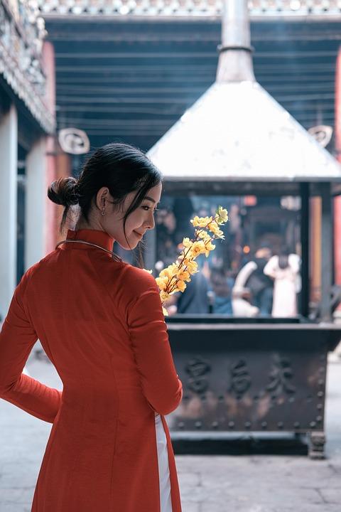 Woman, Portrait, Ao Dai, Dress, Traditional Dress