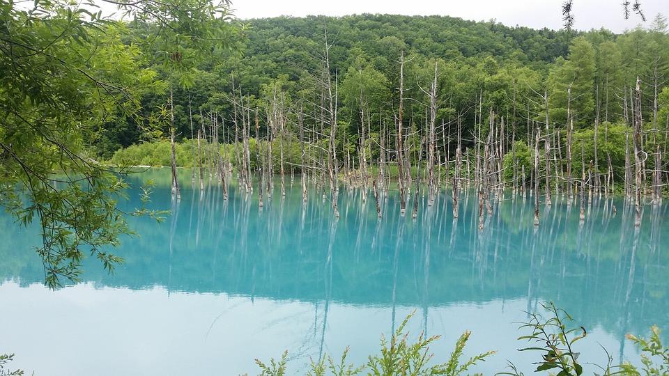 Hokkaido, Aoi Ike, Aoi-ike Lake, Lake, Japan, Blue