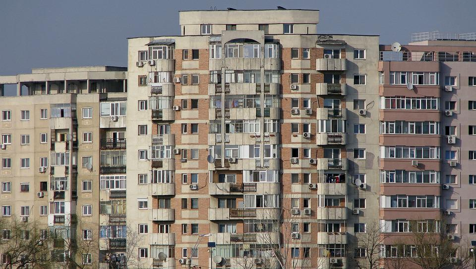 Block Of Flats, Architecture, Apartments, Crowded