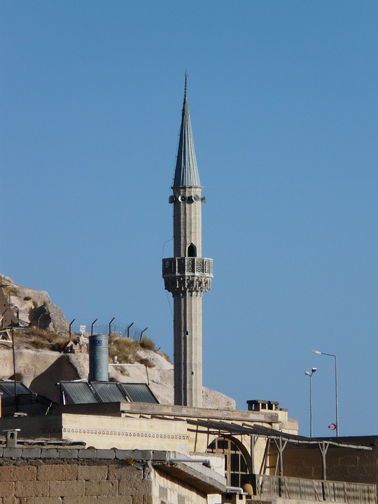 Uchisar, Minaret, Mosque, City, Apartments