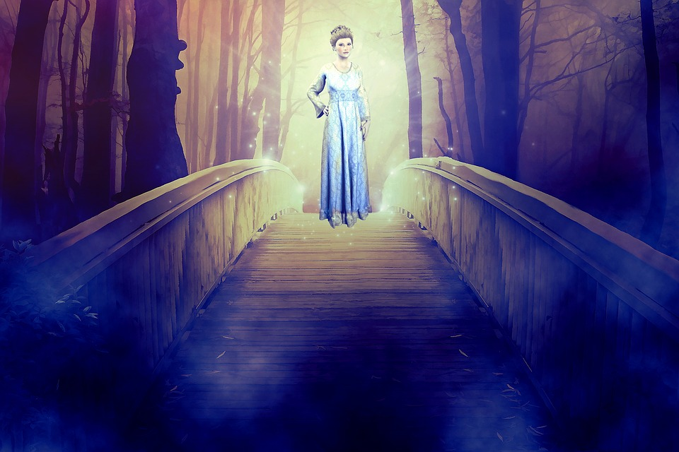 Woman, Lady, Spirit, Appearance, Mystical, Bridge