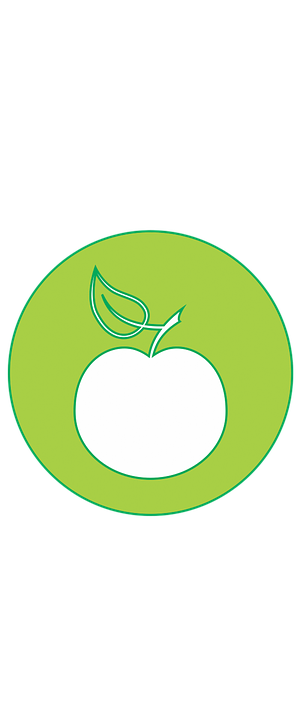 Icons, Nature, Green, Drawing, Natural, Apple, Fruit
