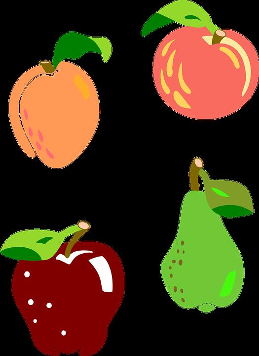 Fruit, Apple, Pera, Apricot, Fishing