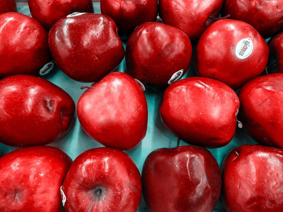 Fruit, Apple, Red Apple, Power, Red, Market, Food