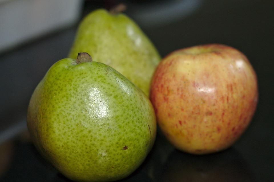 Fruit, Pera, Apple, Red, Greens