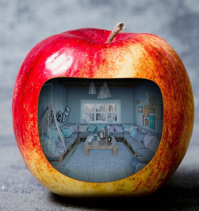 Creation, Fall, Apple, Red Apple, Interior