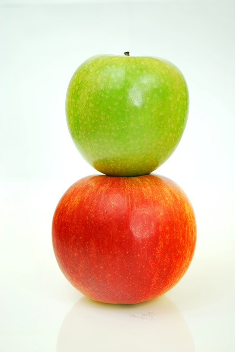 Apples, Red, Green Apple