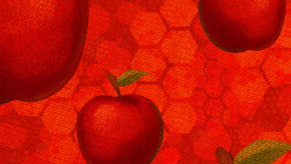 Apples, Apple, Red Apple, Honey, Sweet, Honeycomb
