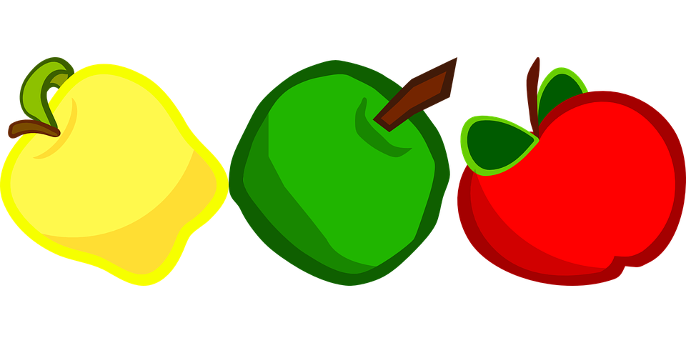Apples, Fruit, Vitamins, Red, Green, Yellow