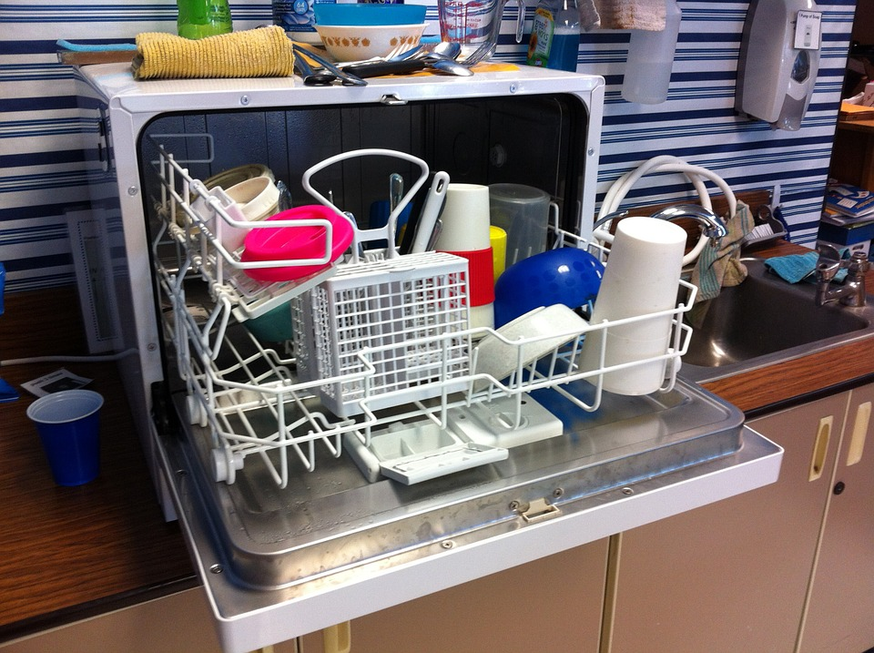 Dishwasher, Clean, Dishes, Appliances, Household