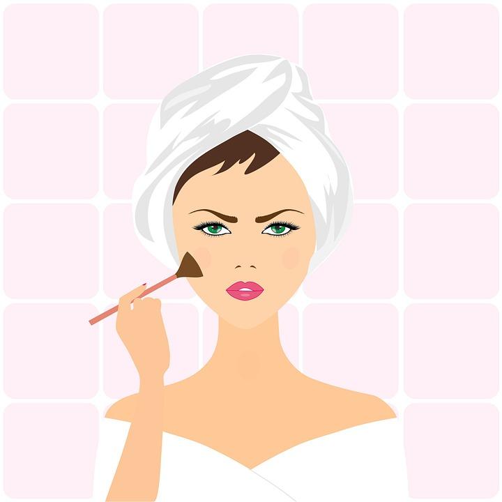 Woman, Applying Make-up, Applying, Beautiful, Girl