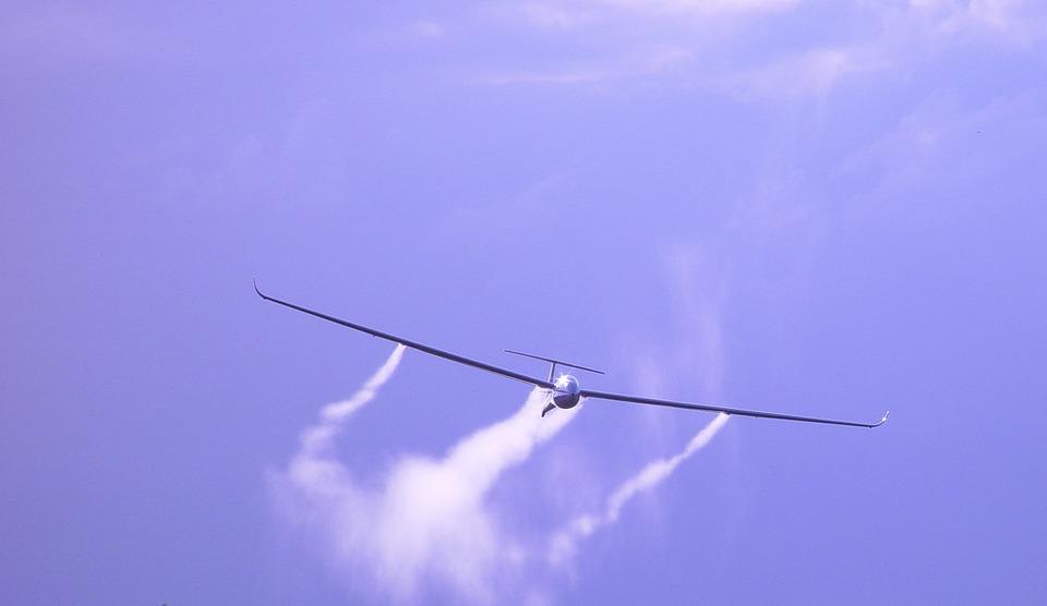 Glider, Air Sports, Aircraft, Approach, Flugshow, Fly