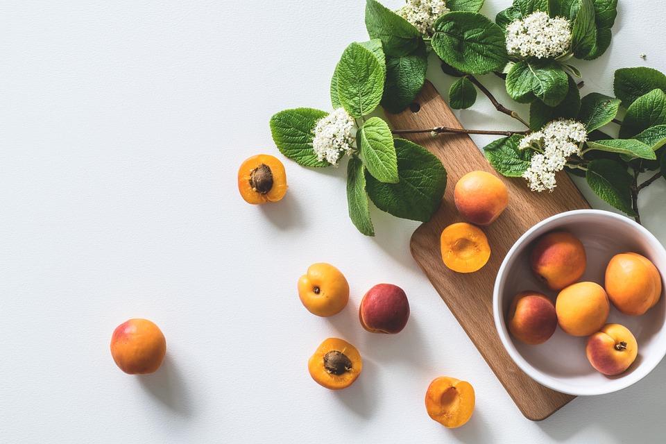 Fruit, Food, Apricot, Leaf, Healthy, Background, Peach