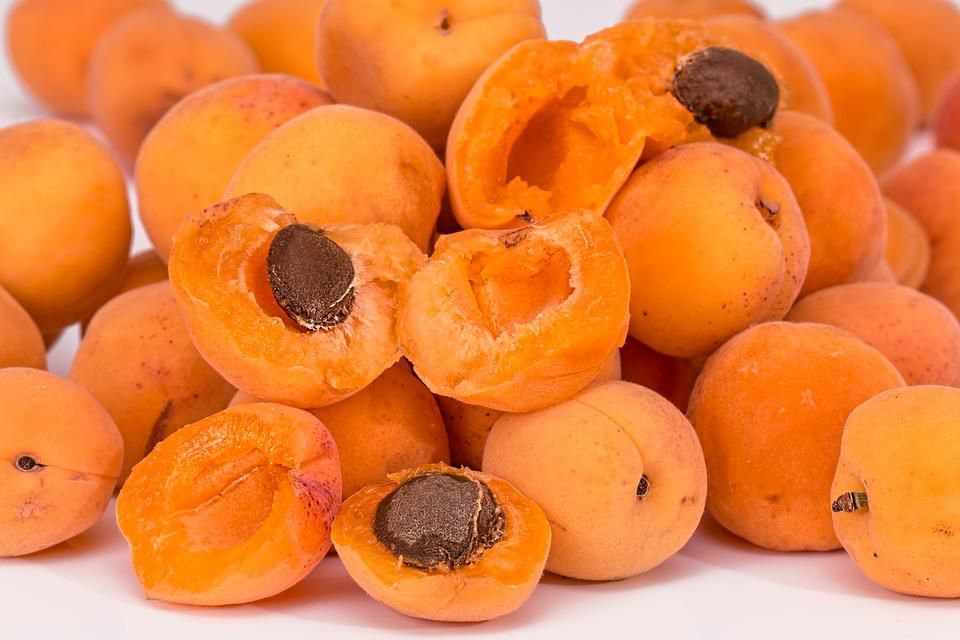 Apricots, Fruit, Pips, Ripe, Juicy, Fresh, Healthy