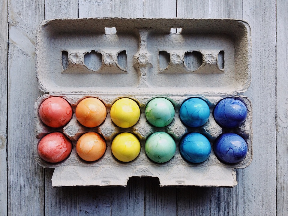 Eggs, Easter, Easter Eggs, Spring, Colorful, April