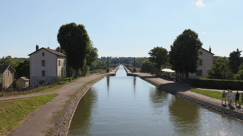 Aqueduct, Briare, Water Courses, France, Burgundy