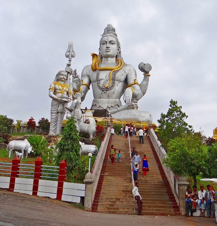 Shiva, Murudeshwar, Arabian Sea, Karnataka, India
