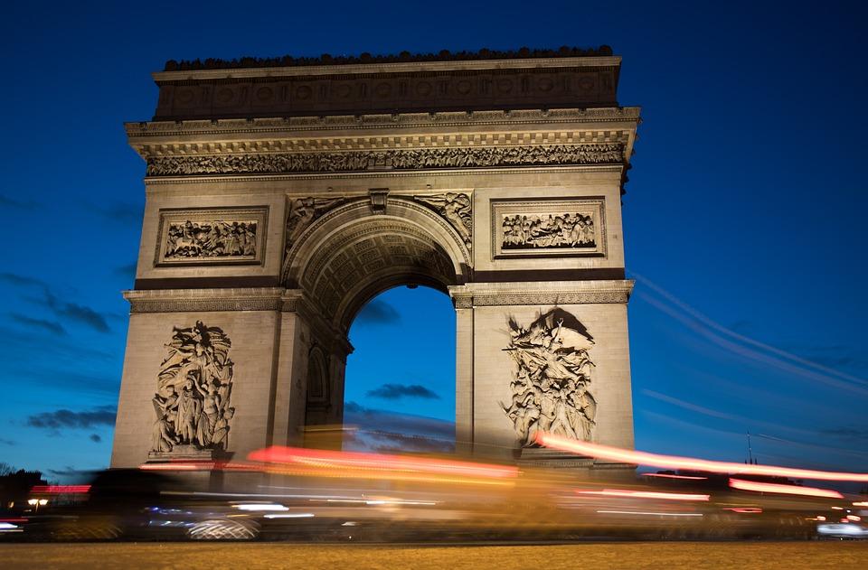 Traffic, Arc De Triomphe, Paris, Iconic, Monument