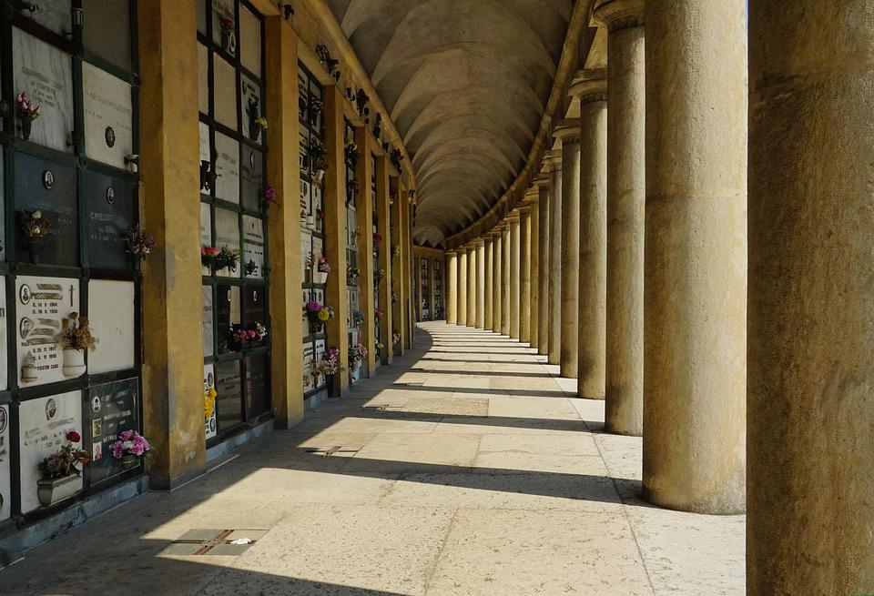 Columnar, Arcade, Architecture, Building, Cemetery