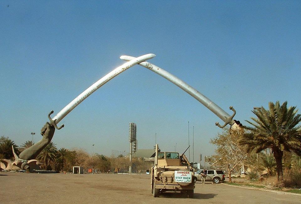 Arc, Triumph, Saddam, Sword, Victory, Arch, Qadisiyah
