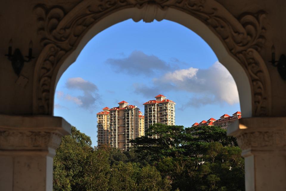 Building, Arch, Blue Sky, Housing, Zhuhai