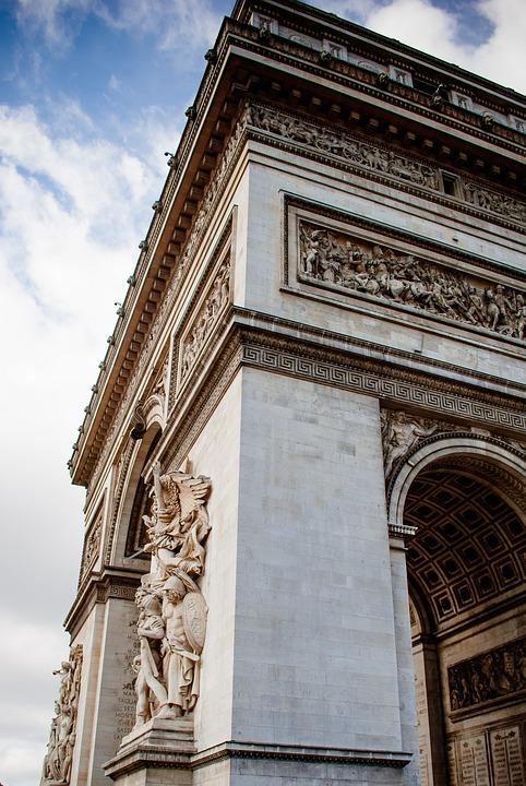 Arch Of Triumph, Paris, France, Architecture, Corner