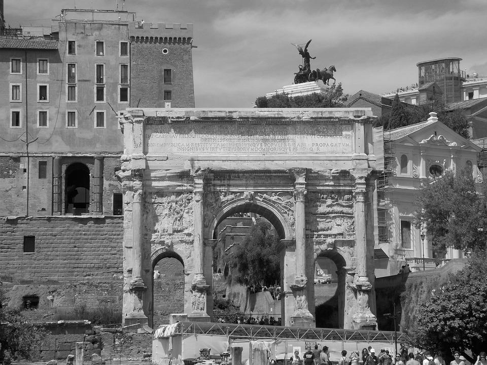 Forum Romanum, Rome, Old, Landmark, Architecture, Arch