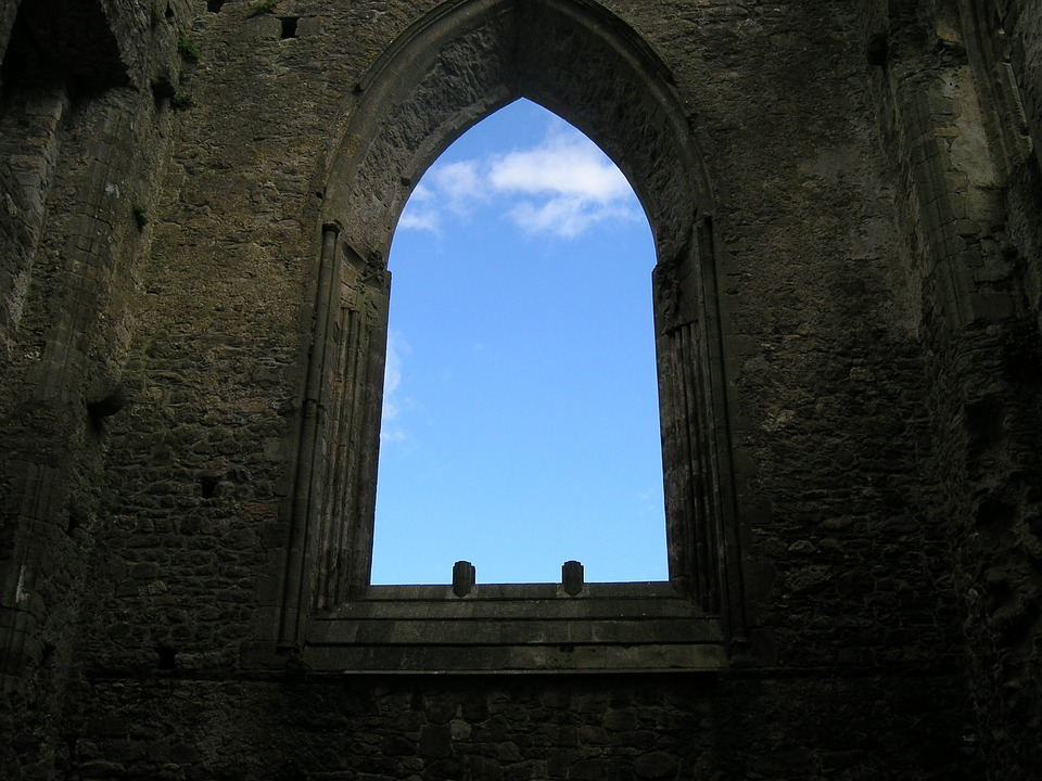 Castle, Window, Arch, Sky, Ruin, Ancient, Wall, History