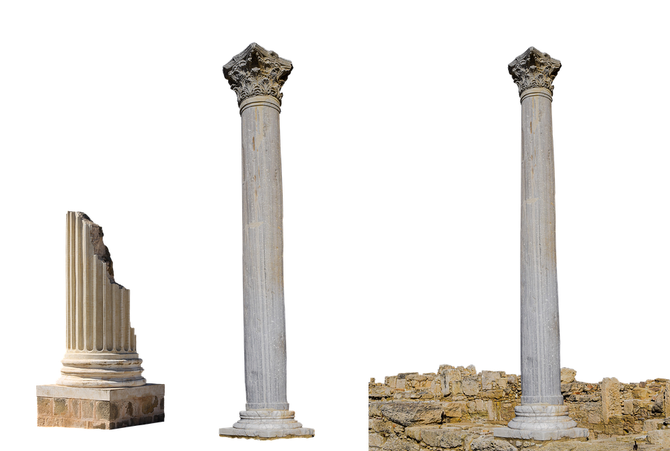 Columnar, Ruin, Old, Archaeology, Decorated, Stone