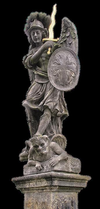 Statue, Archangel, Michael, Angel, Archangel Michael