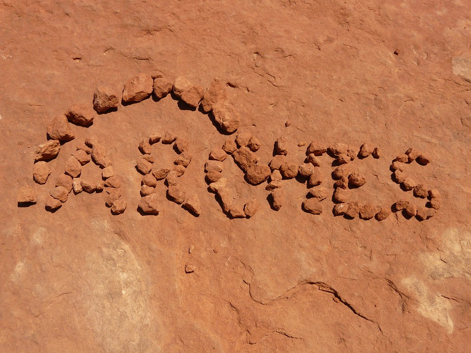 Arches, Arches National Park, Font, Lettering