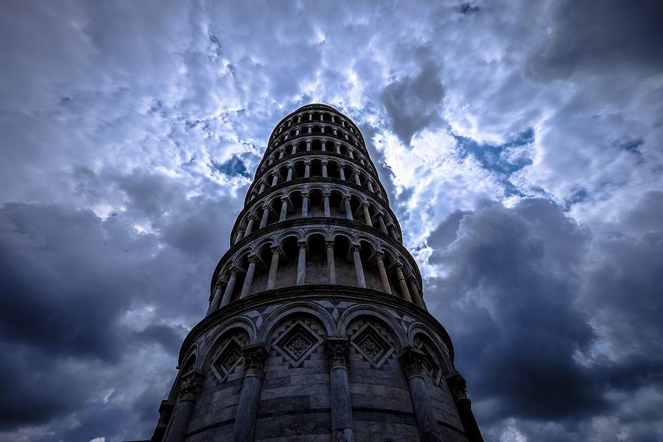 Arches, Architecture, Building, Clouds, Columns