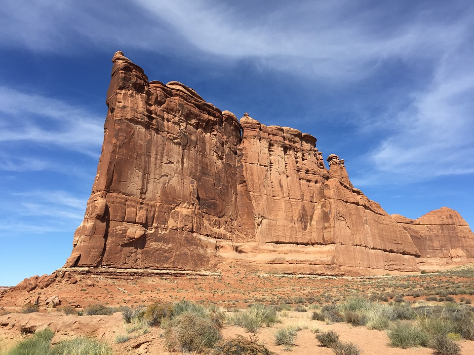 Arches National Park, Canyon Face, Desert, Cliff