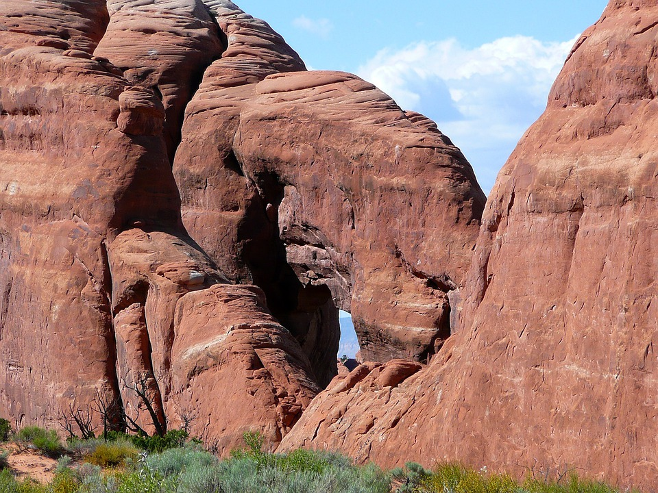 Red Rocks, Formations, Arches National Park, Utah