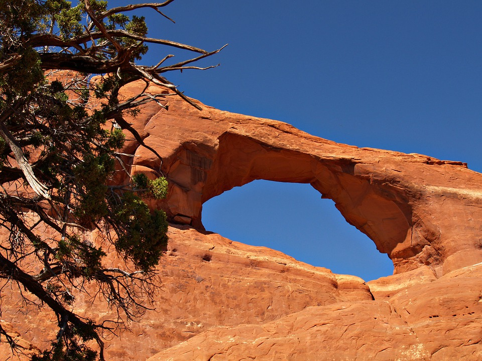 Wilson Arch, Red, Rocks, Arches National Park, Utah