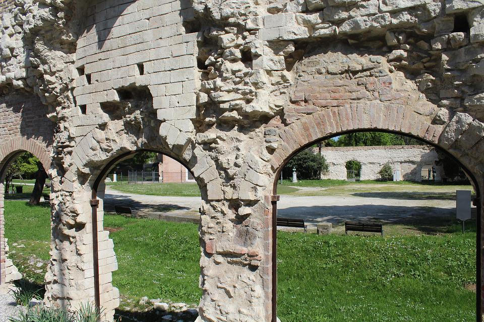 Roman Arena In Padova, Ruins, Archi, Antiquity, Romans