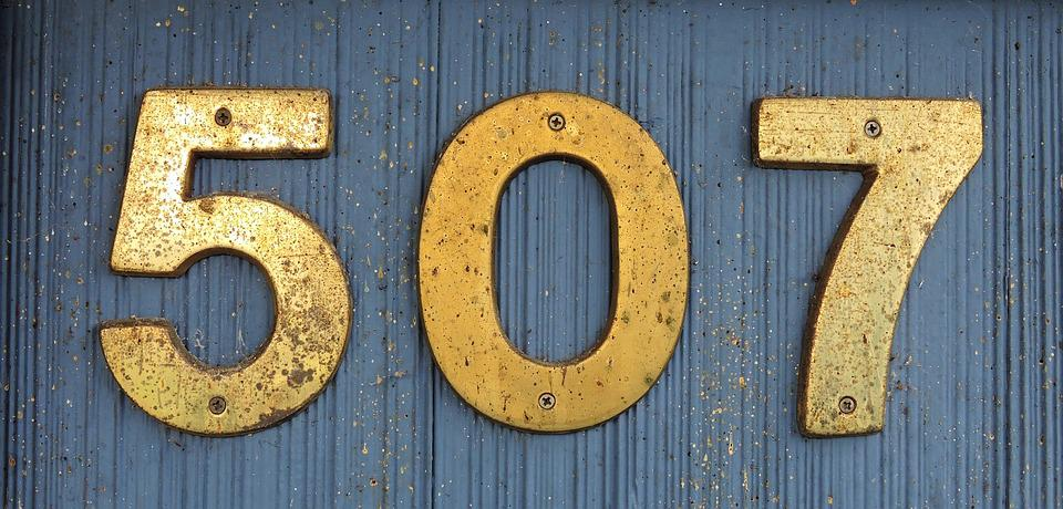 Address, Brass, Architectural, House, Metal, Number