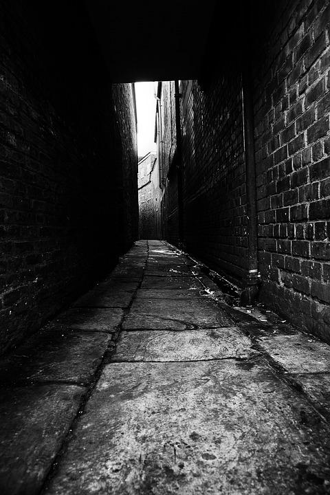 Abandon, Alley, Architecture, Black, City, Corridor