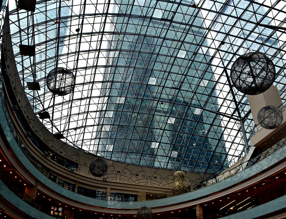 Afimall, Moscow City, Architecture, Glass, Megalopolis