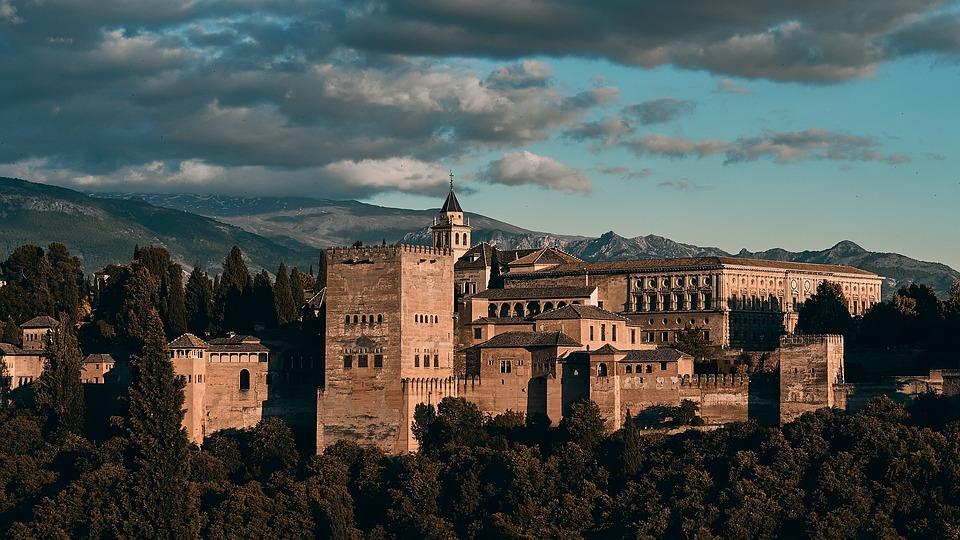 Spain, Granada, Alhambra, Andalusia, Architecture