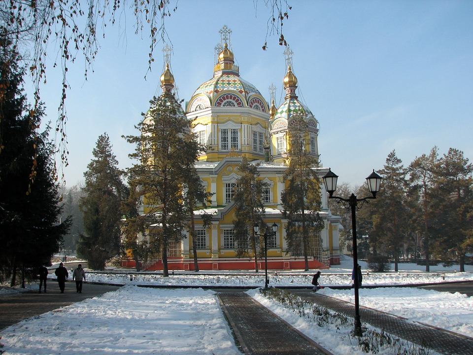 Ascension, Cathedral, Almaty, Church, Architecture