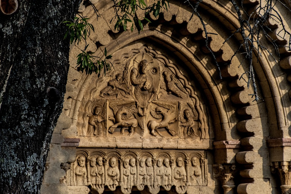 Tympanum, Carving, Stone, Architecture, Relief, Ancient