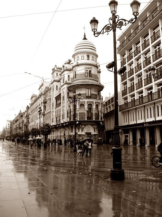 Architecture, Seville, Andalusia, Rain, Building, Spain