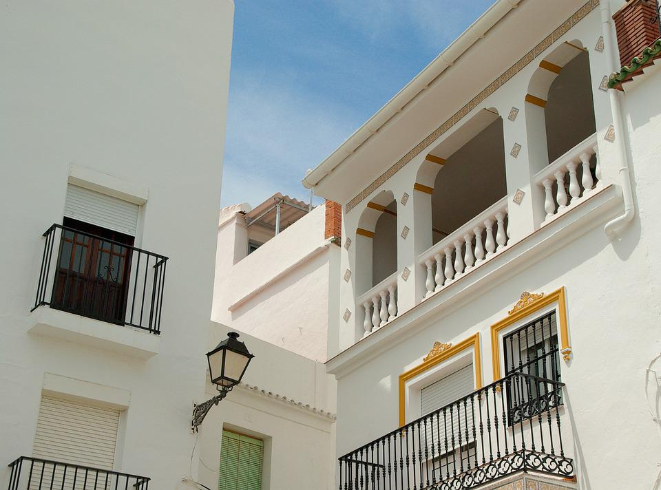 Spain, Andalusia, Patio, Balconies, Architecture
