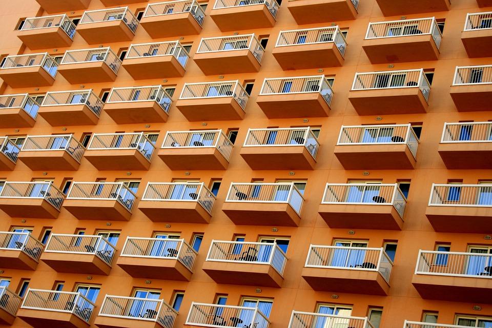 Apartment, Facade, Hotel, Balconies, Architecture